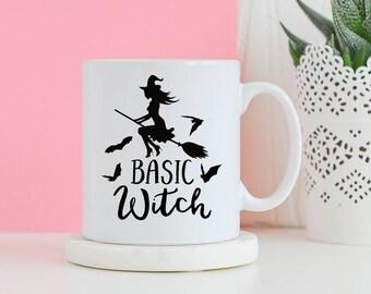 Basic Witch Mug - Love mug, Gifts for him, Novelty mug, Unique mug, Housewarming gift, Halloween gift, Gifts for her mugs