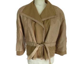 San Lorenzo jacket leather size 44 (it) beige woman bolero made italy calfskin