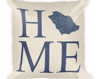 Saudi Arabia Pillow, Saudi Arabia Gifts, Saudi Decor, Saudi Arabia Home, Saudi Arabia Throw Pillow, Saudi Arabia Art, Saudi Map, Cushion