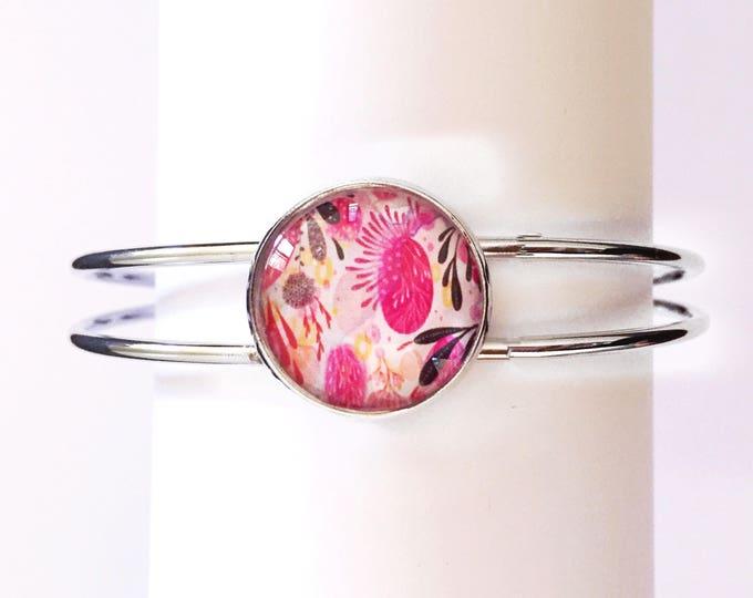 The 'Skyler' Glass Cuff Bracelet