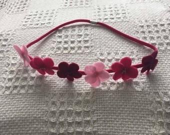 Pretty in pink elastic headband