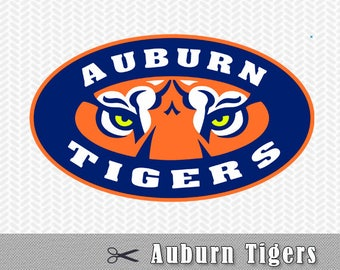 SVG PNG Auburn Tigers University Layered Logo Vector Cut File Silhouette Cameo Cricut Design Template Stencil Vinyl Decal Tshirt Transfer