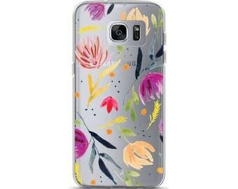 Fall Florals Clear Samsung Galaxy S7, Galaxy S7 Edge, Galaxy S8, Galaxy S8+ Phone Case