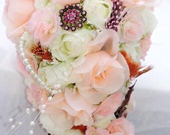 Bridal bouquet, bridesmaid bouquet, toss bouquet, wedding bouquet, wedding decoration,keepsake Bouquet,wedding decorations