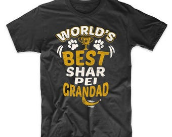 World's Best Shar Pei Grandad Graphic T-Shirt