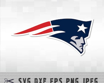 New England Patriots SVG PNG DXF Logo Layered Vector Cut File Silhouette Cameo Cricut Design Template Stencil Vinyl Decal Transfer Iron on
