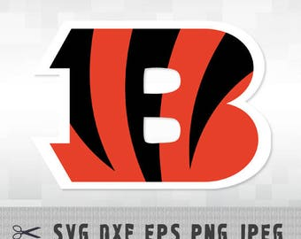 Cincinnati Bengals SVG PNG Logo Layered Vector Cut File Silhouette Studio Cameo Cricut Design Template Stencil Vinyl Decal Transfer Iron on