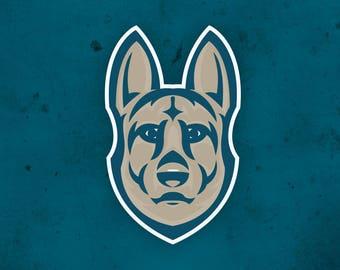 German Shepherd Logo - Art - Mascot