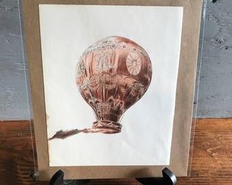 Vintage Print - Hot Air Balloon