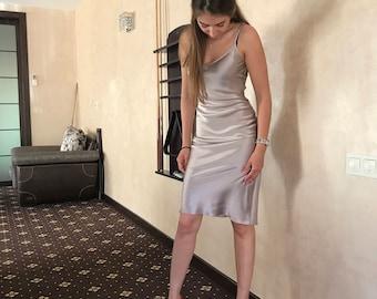 Silk Night Gown, Silk Night Dress, Silk Camisole, Silk Chemise, Silk Slip Dress, Bodycon Dress, Silk Sleepwear, Silk Nightie