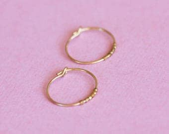 Gold plated earrings / gold plated hoop