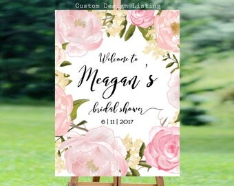Bridal Shower sign, Bridal Shower Welcome Sign, Bridal Shower decoration, welcome wedding sign, Bridal shower invitation - US_BS0303a