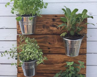 Wall mounted living herb rack