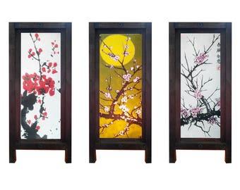 Mulberry Saa Paper Thai Table Lamp Sakuna Cherry Blossom 3 motives