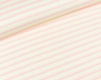 Romanit jersey Stripes White-pink (13.80 EUR/meter)