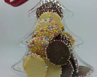Christmas Tree Themed Sweet Filled Plastic Bauble