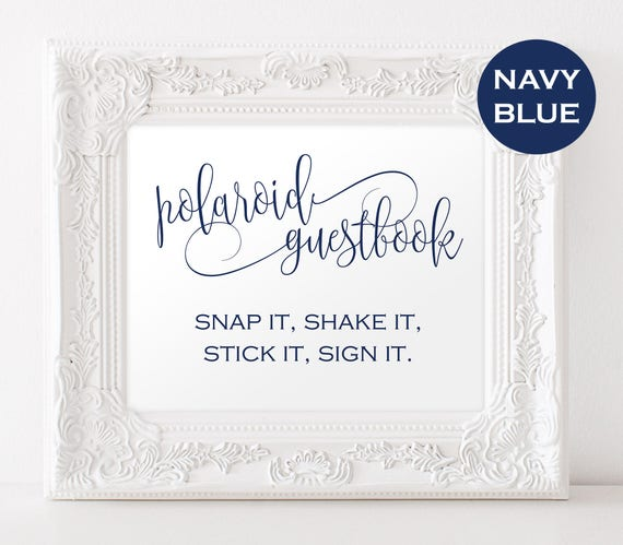 Photo Guestbook Sign Instant Download
