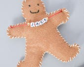 Personalised gingerbread man decoration