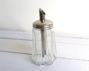 Vintage glass sugar castor