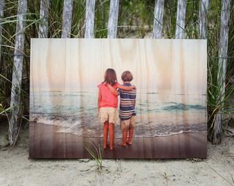 Photo On Wood, Custom Photo On Wood, Photos On Wood, Wood Photo Print, Wooden Wall Art, Photo Printed On Wood, Wood Print 23.5 x  38.5