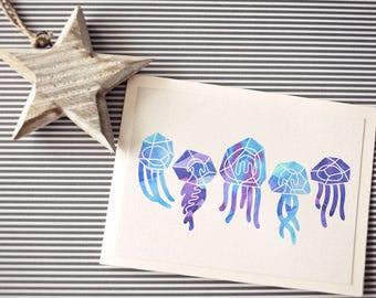 Postcard: Summer, ocean, jellyfish