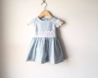 Peekaboo stripe dress