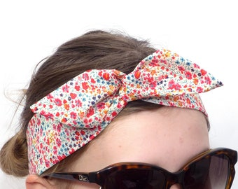Twist Headband / Hairband - Liberty Cotton - Blooming flowers