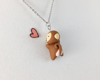 Valentines Day Gift for Girlfriend // Girlfriend Gift // Monkey Necklace