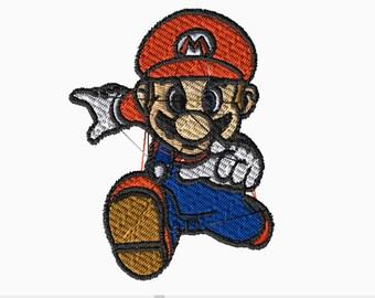 Mario Embroidery Files