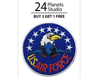 US Air Force Iron on Patch by 24PlanetsStudio