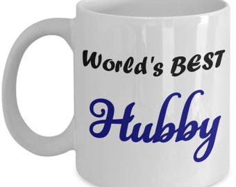 World's Best HUBBY 11oz Coffee Cup Anniversary Gift Husband Father's Day Birthday I Love You Gift Mug Newlywed Engagement Gift