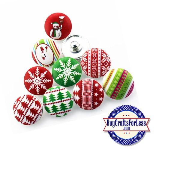 SNAP CHRiSTMAS ASST'd BUTTONs, 18mm INTERCHaNGABLE Buttons +FREE Shipping & Discounts