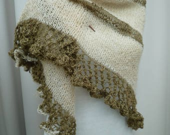 fancy hand knitted shawl