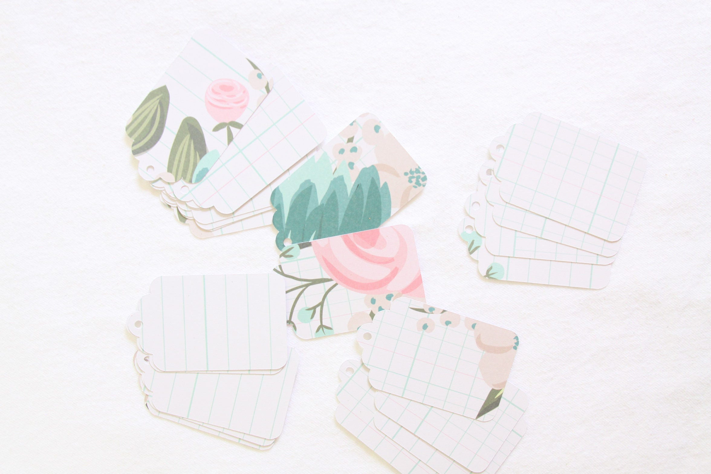 Mint and Blush Wedding Favor Tags Make Your Own Baby Shower and