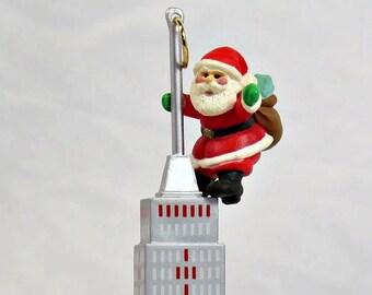 Hallmark Christmas Ornaments// King Klaus // 1990// Santa As King Kong On The Empire State Building // New York City Ornament// Tiny Santa
