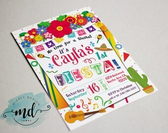 Fiesta Printable Invitation
