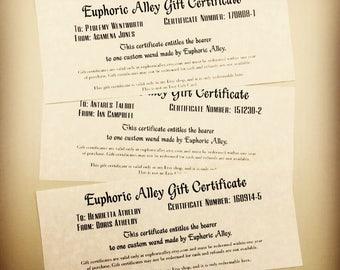 Gift Certificate for Custom Wand
