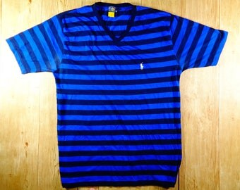 On Sale Vintage POLO Ralph Lauren Stripe Tshirt