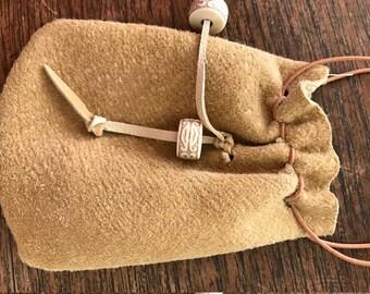 deerskin mini pouch/ coin purse