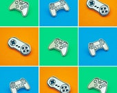 Box Controller Pin Badge | Play Controller Pin Badge Video Gamers | Super Controller Enamel Pin | I Love Video Games | Gold Pin Badge Gift