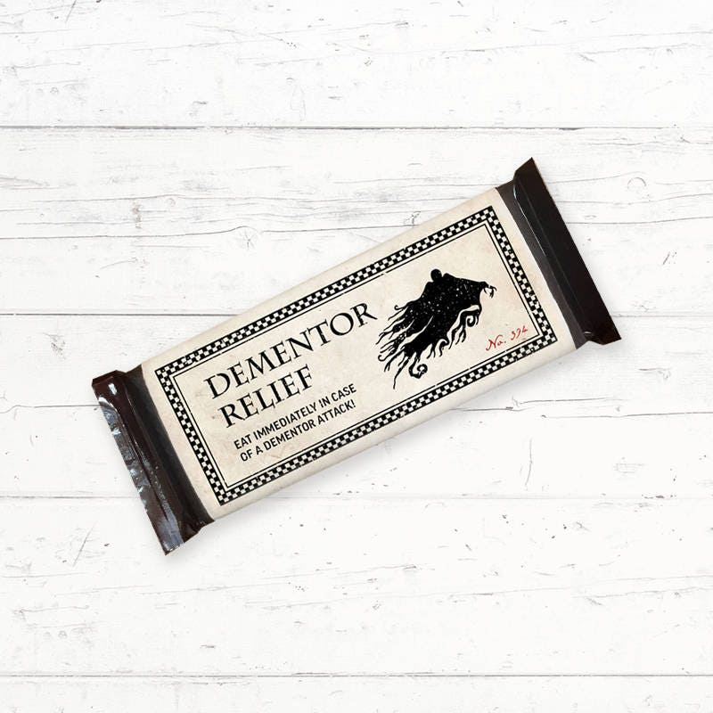 Eloquent image pertaining to dementor chocolate wrapper printable