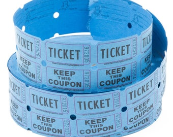 Raffle Tickets - Bridal Shower Tickets - Two Part Raffle Tickets - Door Prize Tickets - Carnival Tickets - Fair and Circus Tickets