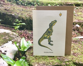 Dinosaur Wishes Greetings Card