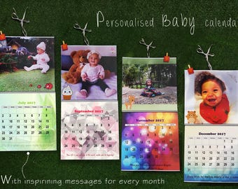 Personalised Baby  Photo Calendar