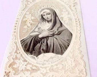 MARY's vintage prayer card