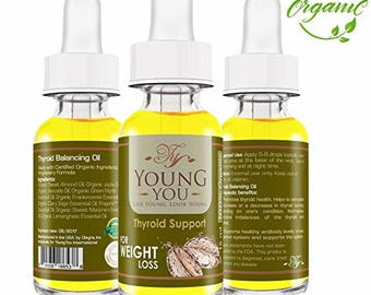 Thyroid Support Supplement for Thyroid Energy Aid  in Weight Loss Essential Oil Blend