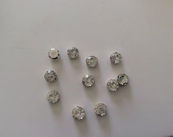 Set of 10 sertisses Crystal rhinestones. sewing 10 mm