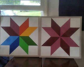 2×2 barn quilt