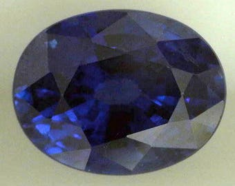 Sapphire Blue 0.98 Natural/Oval /AGL Report/Loose Sapphire