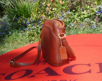 Vintage Coach Bag, British Tan Leather Anderson Purse, 9976, Crossbody, Shoulder, Messenger, Made in USA, Includes Dust Cover